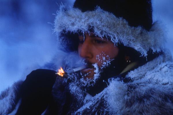 МЧС рекомендует не курить на морозе