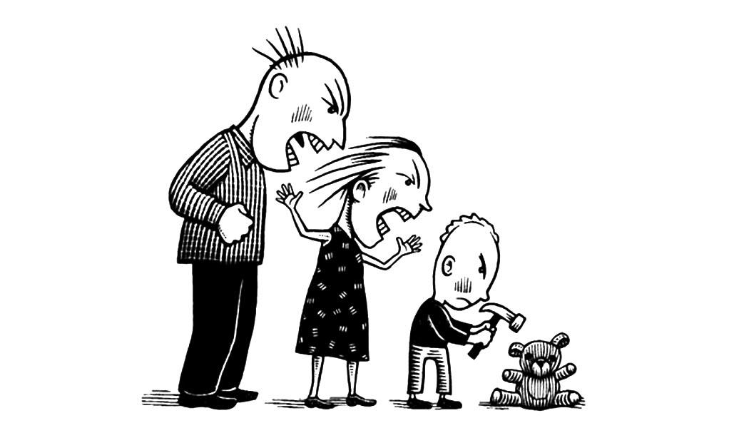 Рисунок насилие в семье